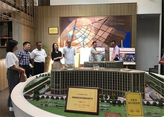 温州市委宣传部副部长魏平生一行人调研蝴蝶广场