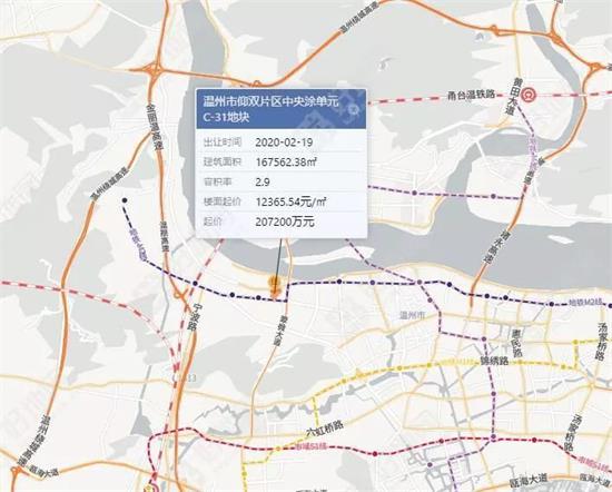 温州鹿城区挂牌1宗商住地预计2020年2月19日出让